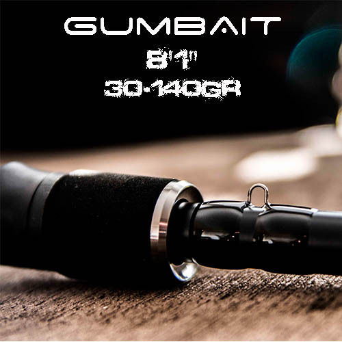 "GATOR GUMBAIT BLACK TITANIUM 8´1"" (30-140GR) FAST ACTION"