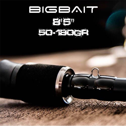 "GATOR BIGBAIT BLACK TITANIUM 8´5"" (50-180GR) FAST ACTION"