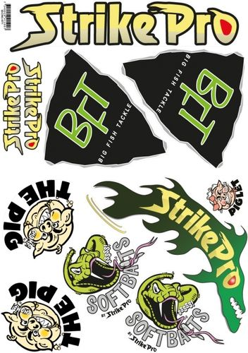 BFT Sticker Kit, BFT, Pig, Strike Pro - A4